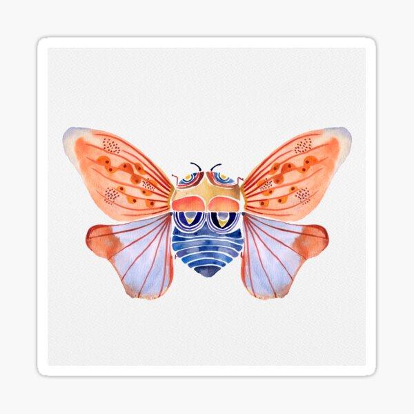 Cicada Dreaming-Watercolor Sticker