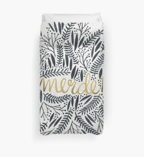 Pardon My French – Black & Gold Duvet Cover