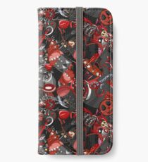 Punk Gothic pattern style iPhone Wallet/Case/Skin