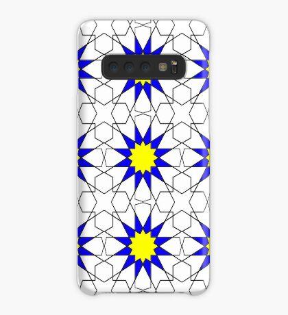 Islamic Geometric pattern 002 Blue & Yellow Case/Skin for Samsung Galaxy