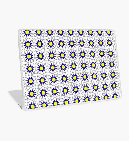 Islamic Geometric pattern 002 Blue & Yellow Laptop Skin