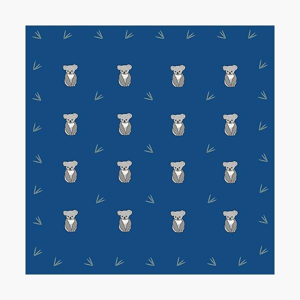 CK...Cute Koala, blue repeat Photographic Print