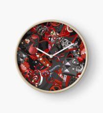 Punk Gothic pattern style Clock