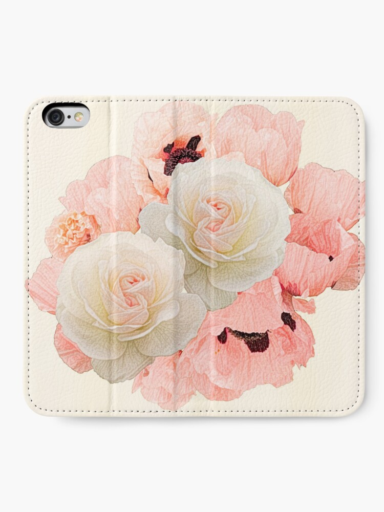 Alternate view of What the rose and the poppy say  iPhone Wallet