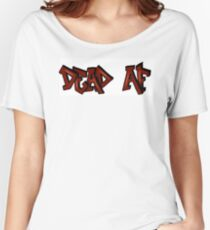 Dead AF miw grafitti Women's Relaxed Fit T-Shirt