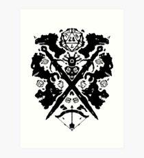 Roleplaying Rorschach Art Print