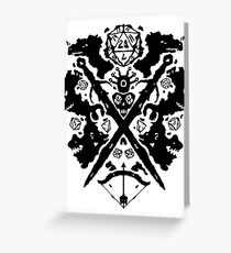 Roleplaying Rorschach Greeting Card