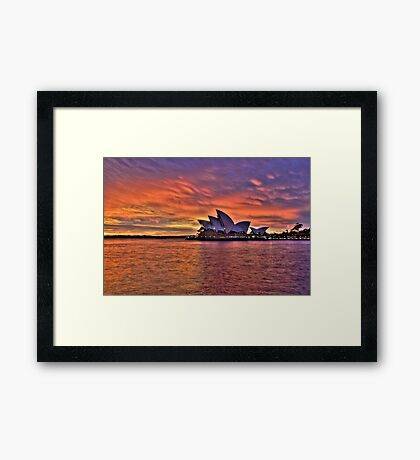 Greeting The Morn - Moods Of A City - The HDR Series Framed Print