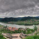 Looking down on Duernstein by Stefan Trenker