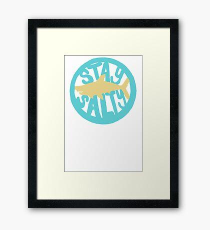 Shark Design Framed Print