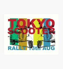 Tokyo Scooter Rally Poster  Art Print