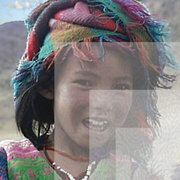 Girl in Tibet, color and overlays by zavi