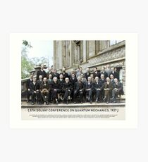 With names: 5th Solvay Conference on Quantum Mechanics, 1927.  Art Print