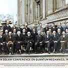 With names: 5th Solvay Conference on Quantum Mechanics, 1927.  by Marina Amaral