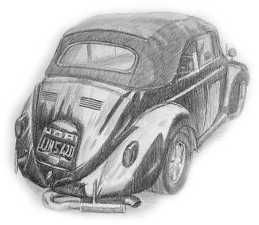 A Drawn Up Car by LANKS