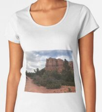 Cliff face outside Sedona Women's Premium T-Shirt
