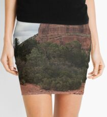 Cliff face outside Sedona Mini Skirt