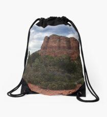 Cliff face outside Sedona Drawstring Bag
