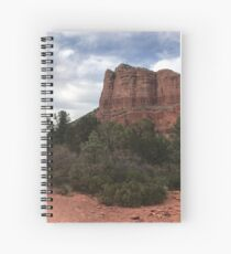 Cliff face outside Sedona Spiral Notebook