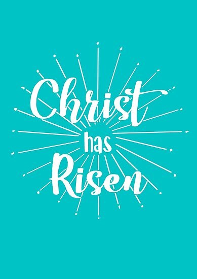 \'The Daily Verse - Christian Quotes - Christ has Risen Matthew 28:6\' Poster  by thedailyverse