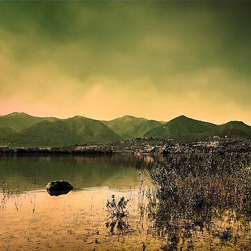 Mountainscape at Pusiano Lake by birba
