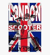 London Scooter Rally Photographic Print