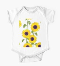 Larger Sunflowers One Piece - Short Sleeve