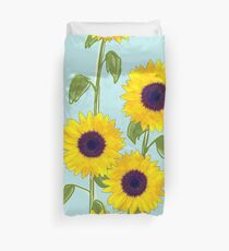 Larger Sunflowers Duvet Cover