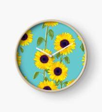 Larger Sunflowers Clock