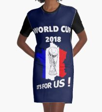 2018 World Cup France Soccer Team Russia World Cup Graphic T-Shirt Dress