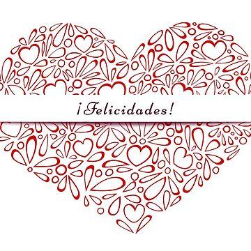 ¡Felicidades! in a red heart by MaijaR