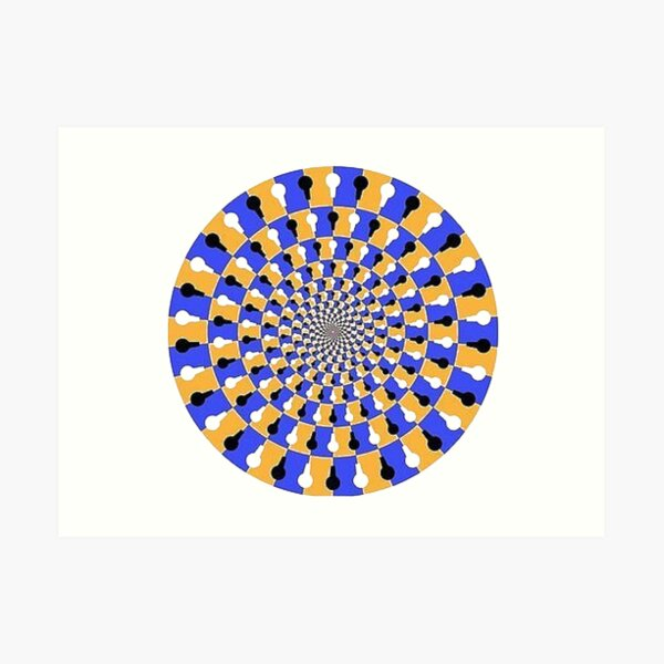 Visual illusion, #VisualIllusion, #visual, #illusion Art Print