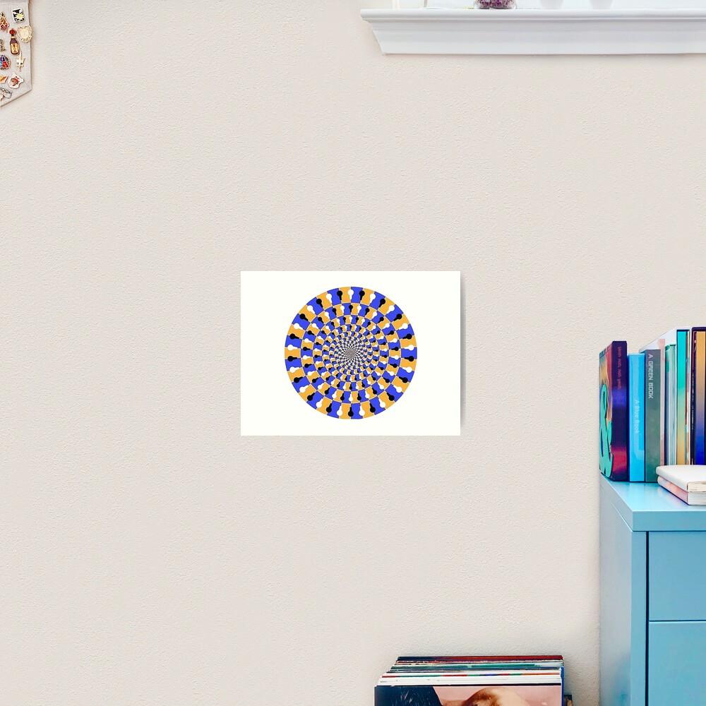 Visual illusion, #VisualIllusion, #visual, #illusion  Art Print