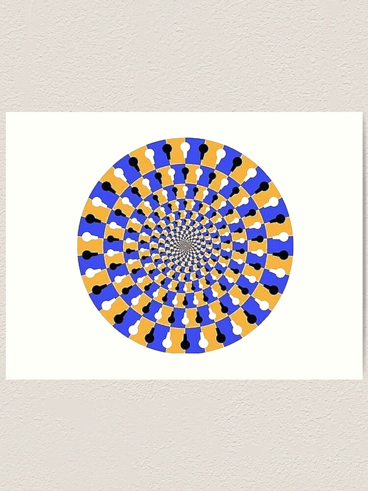 Alternate view of Visual illusion, #VisualIllusion, #visual, #illusion  Art Print