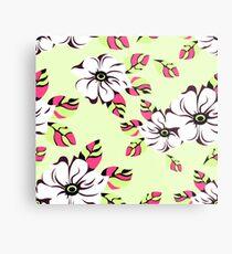 floral seamless pattern Metallbild