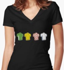 Colours of the TDF Women's Fitted V-Neck T-Shirt