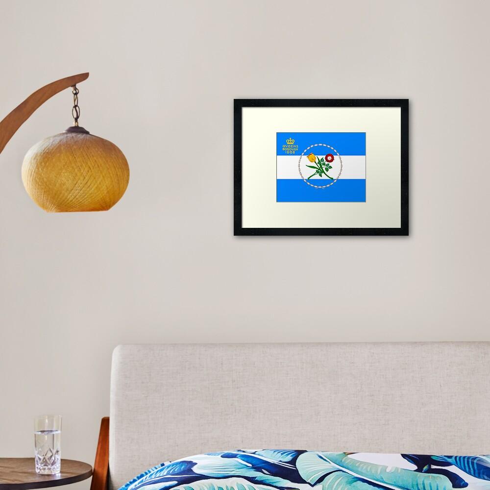 Flag of Queens, NY Framed Art Print