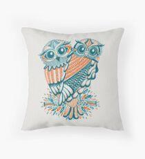 Owls – Teal & Orange Throw Pillow