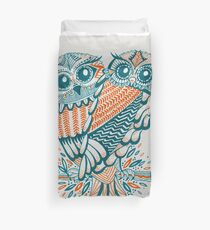 Owls – Teal & Orange Duvet Cover