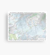 Fairy Meadows - Bill Putnam Hut Topo Map Metal Print
