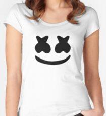 Marshmello logo Women's Fitted Scoop T-Shirt