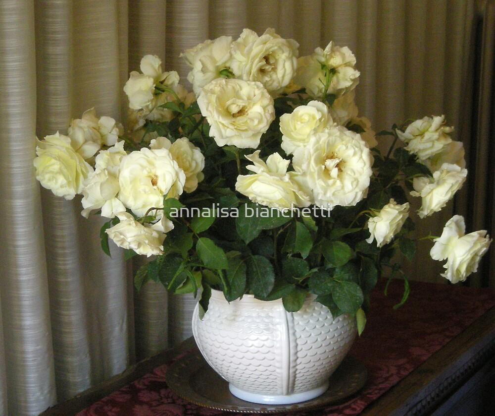 White roses by annalisa bianchetti