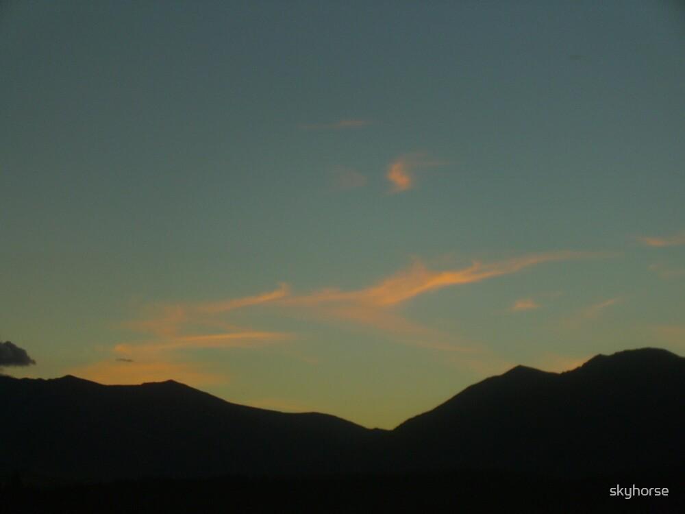 Dawn Over the MacKenzie Ranges by skyhorse