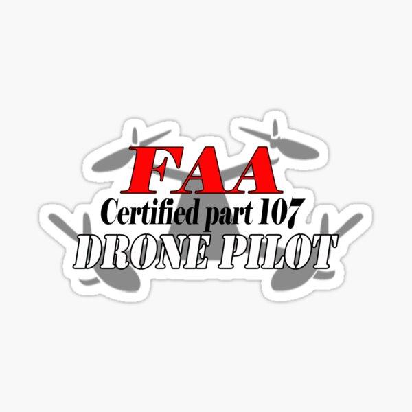 Certificado Parte 107 FAA Drone Pilot Pegatina