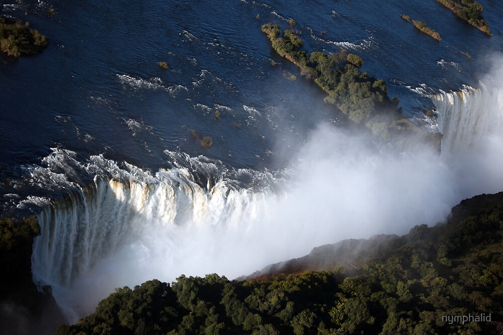 Victoria Falls from above by nymphalid