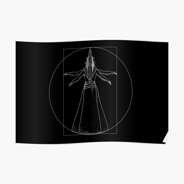 Pyramid head Vitruvian man Poster