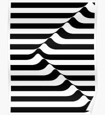 BLACK & WHITE T SHIRT | STRIPE | ILLUSION | NEGATIVE SPACE  Poster