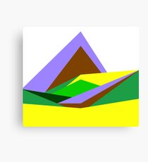Green Hills, Generative art, Data Visualisation Canvas Print