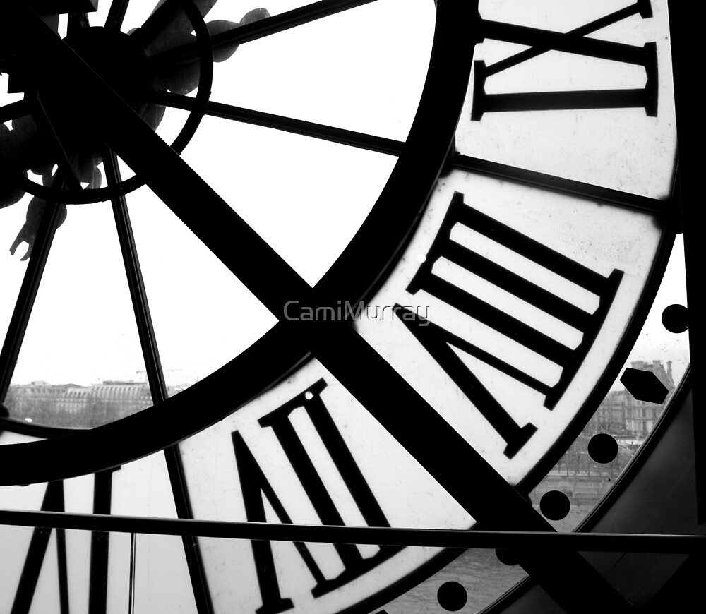 Musée d'Orsay Clock 2 by Camille Murray