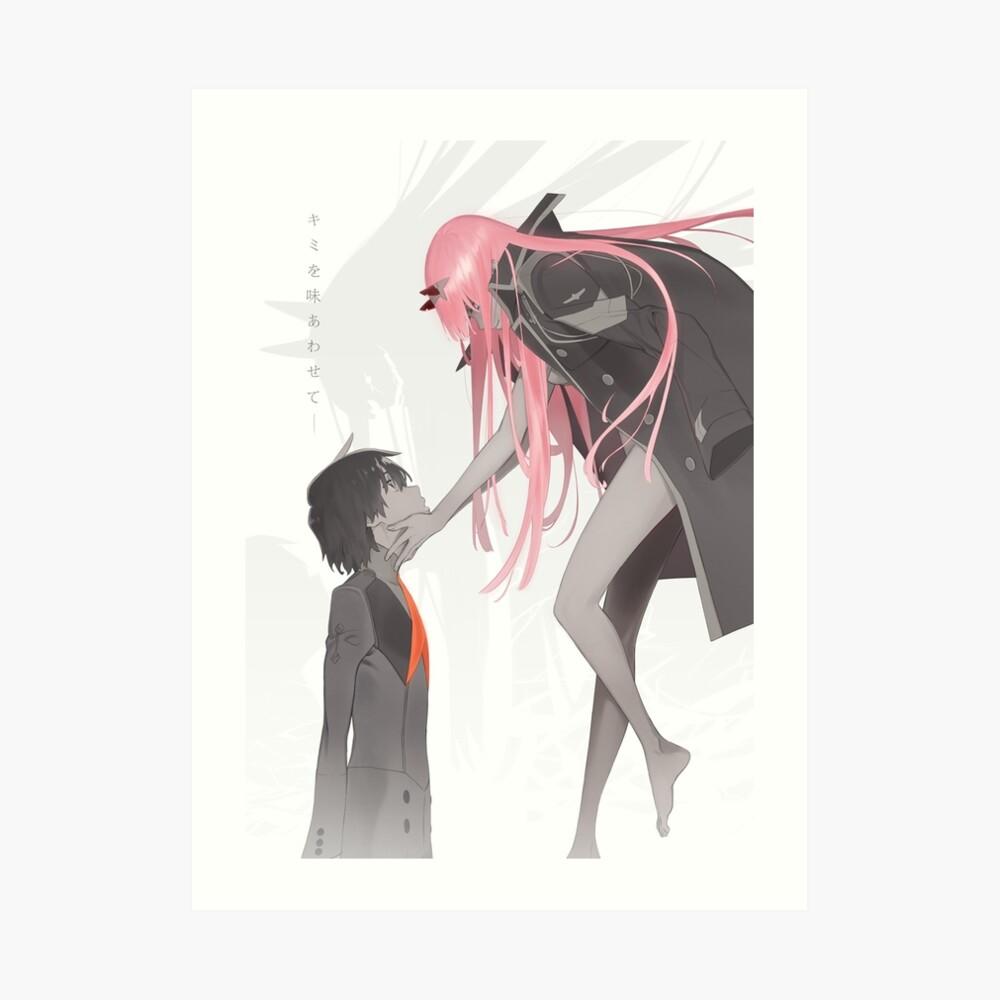Liebling im franxx Hiro x Zero Two Kunstdruck